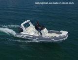 Barco inflável rígido da fibra de vidro de Liya 17feet com motor externo
