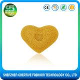 Da limpeza facial orgânica da forma do coração da amostra livre 100% esponja Konjac