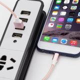 Wholesales TPE transparente de alta calidad trenzado recubierto de cable de datos USB para el iPhone