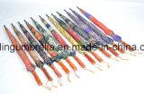 Деревянная ручка прямо зонтик в 16 ребер