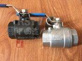 Порт стали углерода полный/пробуренный шариковый клапан резьбы 2PC