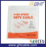 Gold 24k überzog Kabel der 1.5m Qualitäts-HDMI mit Nyloneinfassung 1.4V (D002)