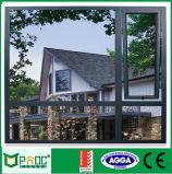 Toldo de aluminio de alta calidad de las ventanas con doble acristalamiento