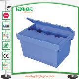 경첩을 단 뚜껑을%s 가진 쌓을수 있는 플라스틱 회전율 상자