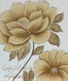 Artes hechos a mano florecientes de la pared de la pintura de la vida del loto aún