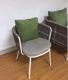 Stahlmetallgewebe-Hotel-Kaffee-im Freiengarten-Patio-Stuhl