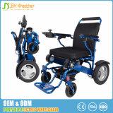 Cadeira de rodas de alumínio de dobramento de pouco peso da potência com o motor 250W