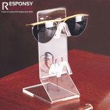 Enregistrer le contre- étalage acrylique clair pour des lunettes de soleil