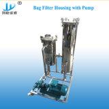 SS304 / 316 a purificação da água da caixa de filtro de mangas paralela Duplex