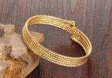 高品質の金の方法ステンレス鋼多層ワイヤーケーブルのブレスレットの開いた袖口の腕輪の女性の女の子の宝石類