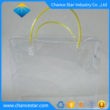 Personnalisé sac à fermeture à glissière en plastique transparent en PVC avec poignée
