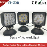 Emark 4inch quadratisches 15With27With48W LED LKW-Arbeits-Licht