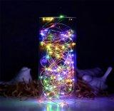 훈장을%s 다채로운 LED 구리 철사 끈 빛