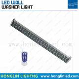 9W en el exterior de la luz de lavado de pared LED RGB DMX512 Control remoto de Acero Inoxidable
