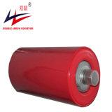 Doppio rullo d'acciaio di buona qualità della freccia, rullo di nylon per il nastro trasportatore della pianta del cemento dell'officina siderurgica