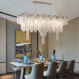 Iluminação Chain de alumínio moderna da luz do candelabro do pendente do borne para o projeto do hotel