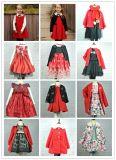O vestido Wooly do algodão da queda lisa extravagante a mais atrasada da menina da criança 2017 no estoque caçoa a roupa