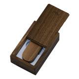 Pena de madeira retangular do USB da rotação