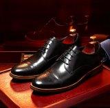 Замшевая отделка гладка Brogue мужчин платья обувь коричневые кожаные туфли Office