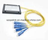 Scatola di plastica ottica del divisore del PLC 1X4 della fibra per l'applicazione della radio della rete e della casella terminale