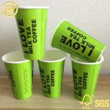 El color verde de vasos de papel desechables China Wholesale