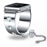 Fashion Lady Diamond Bracelet en acier inoxydable de sangle de regarder la bande d'Apple