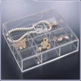 Cadre de bijou acrylique inférieur des prix de modèle neuf avec 5 tiroirs