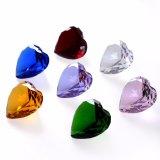 Claro el corazón de Diamante de cristal para regalo