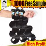 Brasilen@o atractivo Clip-en el pelo humano con la mejor venta
