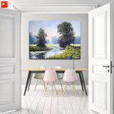 Olieverfschilderij van de Rivieroever van de lente het Groene voor Huis