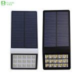 Iluminación solar de la pared de la lámpara del jardín del poder más elevado de 15 LED