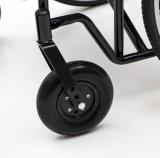 Manuel en acier, lourd avec la roue de rai, fauteuil roulant (YJ-010Q)