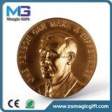 Heiße Verkäufe passten Geschenk-Andenken-Münze des Metall3d an