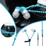 Цветастым связанный проволокой металлом наушник застежки -молнии Earbuds