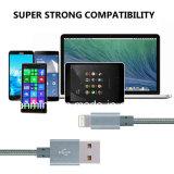 Besonders langes Nylon-umsponnenes Netzkabel-Blitz-Kabel USB-aufladenaufladeeinheit für das iPhone 7/7 Plus