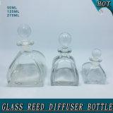 frasco de lingüeta de vidro do difusor da cortiça da esfera de vidro da forma da barraca de 50ml 125ml 270ml