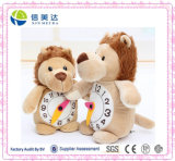 Peluche farcies animales différentes horloges enfants jouet éducatif