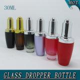 1 oz 30 ml Parfums colorés et parfums Press Pump Dropper Glass Bottle