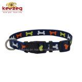 De nieuwe Afzonderlijke Aanpassing van /Leash van de Kragen van de Kat van de Hond van de Druk van de Overdracht van de Stijl Nylon (KC0096)