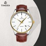 合金の箱72243を持つ人のためのハイエンドステンレス鋼の水晶腕時計