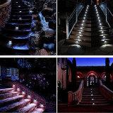 Escaliers en acier inoxydable lumière solaire LED lampe eclairage extérieur