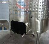 Recipiente de armazenamento do vinho em aço inoxidável com fecho lateral
