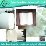 Pulpe non traitée superbe de duvet pour les matières premières de couche-culotte de bébé
