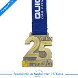 3D 방아끈을%s 가진 오래된 금속 마라톤 운영하는 메달