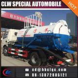 Dongfeng 5000L agua espolvorear Vacumble séptico bomba de camiones de alcantarillado de vehículos de succión