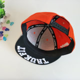 Rojo/Gris 6 panel 3D Embroidery Tapa Snapback/Hat