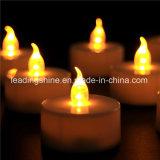 Luz suave de vela amarela de chá amarelo sem fumaça com flama suave para decoração de casamento