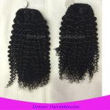 Unverarbeitete Menschenhaar-Extensions-verworrenes lockiges Großhandelsjungfrau-Brasilianer-Haar