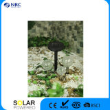 Sfera di vetro cambiante del giardino LED di colore della lampada del palo di Crackle chiaro solare del percorso