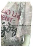 Maglietta All-Over di stampa del poliestere per le donne grasse con la perforazione calda